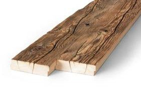 Hand hewn old wood boards