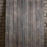 Charred wood, inside paneling