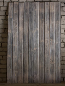 Charred wood, inside paneling
