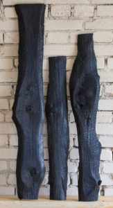 Old charred boards