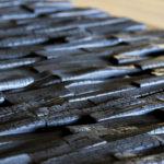 """Charred wood panels - Lida, charred """"Crocodile"""""""