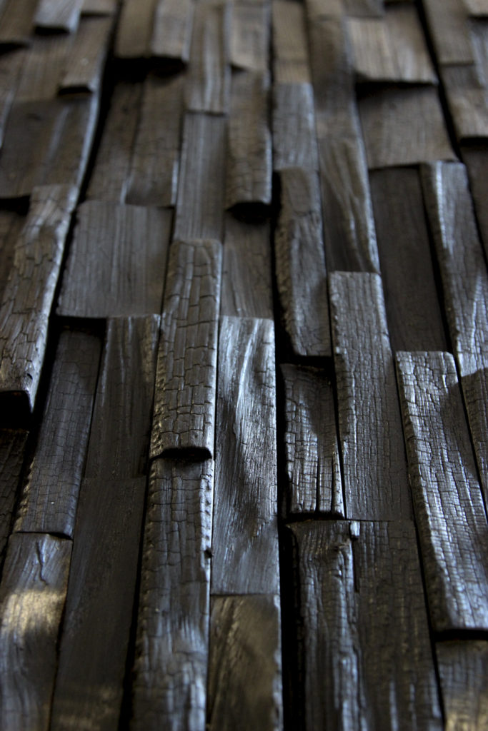 "Charred wood panels - Lida, charred ""Crocodile"""