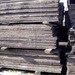 Old oak train wagon boards